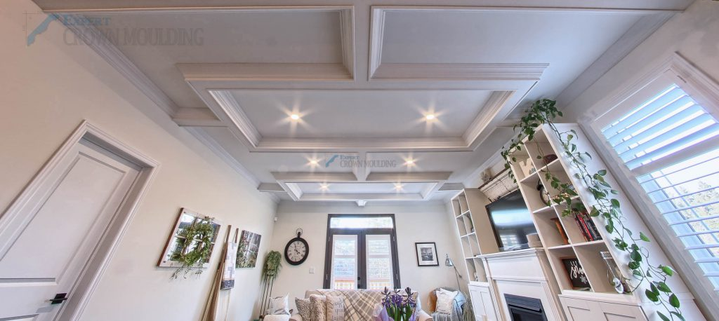 Waffle ceiling project completed in oshawa