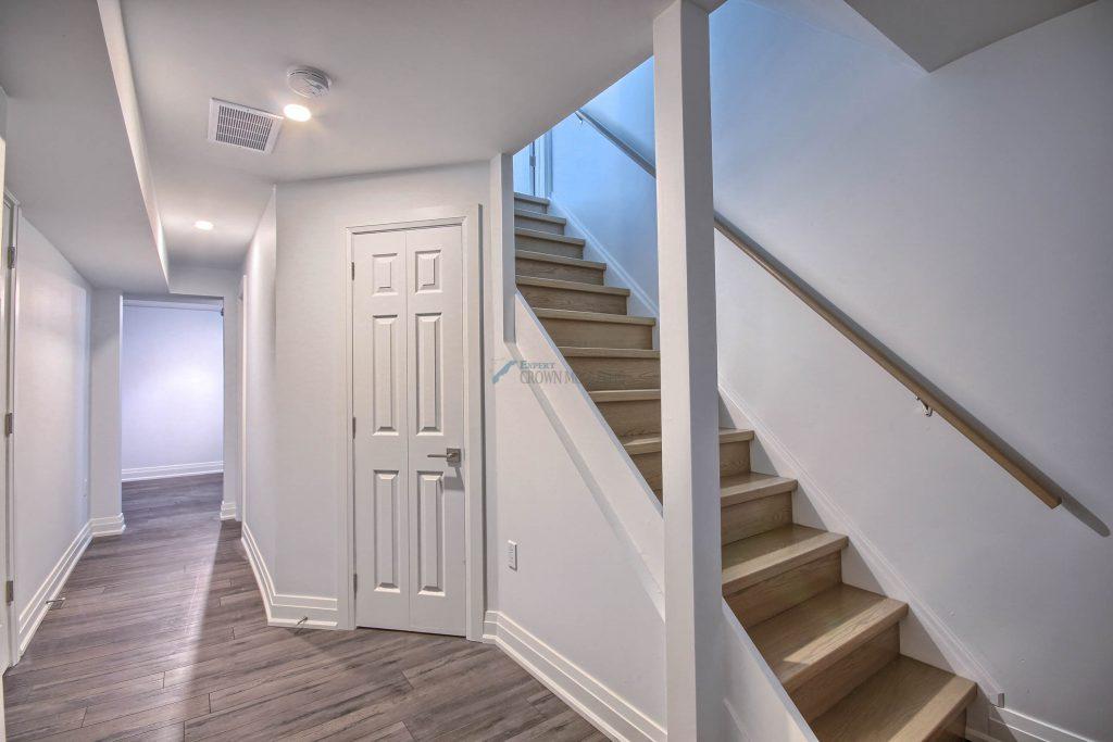 basement baseboard and door trim