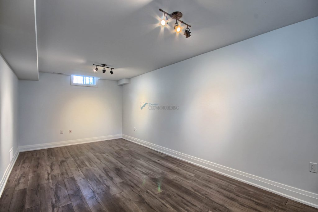 basement bedroom baseboard trim