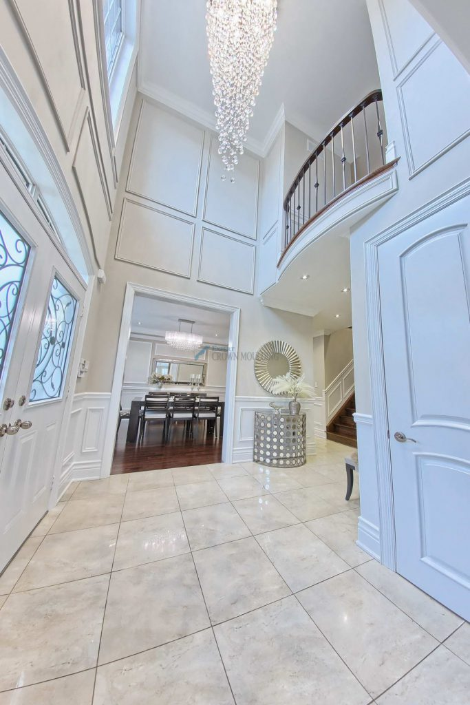 luxury hallway moulding and trimwork