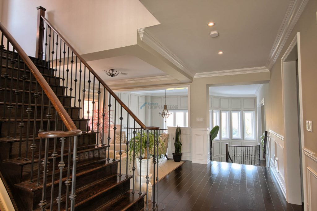 classic crown moulding and wainscoting design