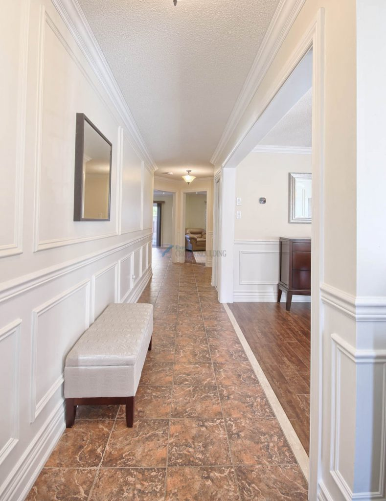new wainscoting and crown moulding design