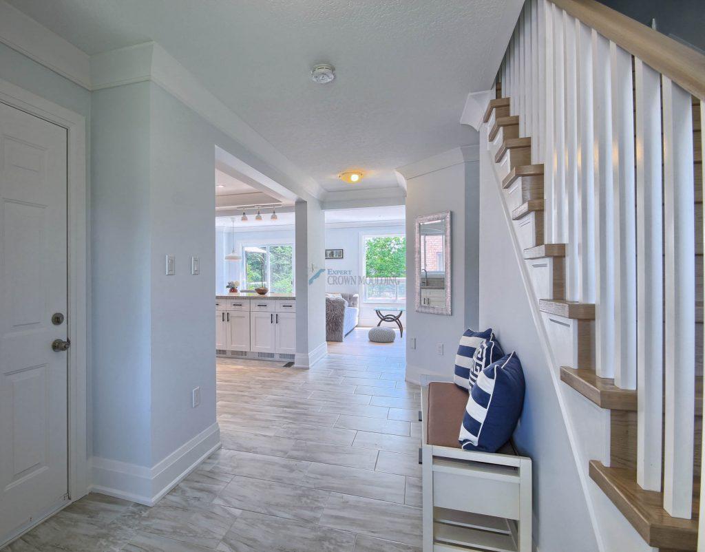 oakville home crown moulding interior design