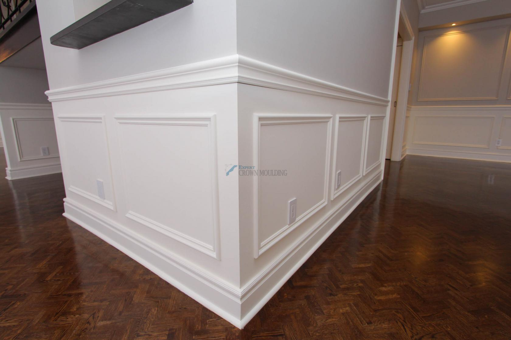 wainscoting panel installed
