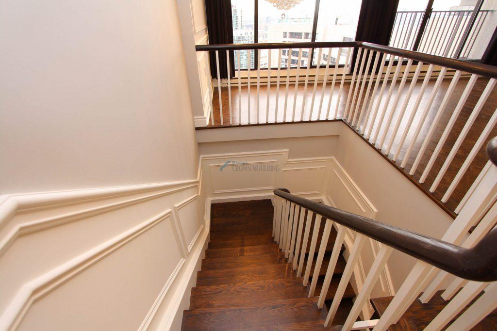 wainscoting toronto condo stairs