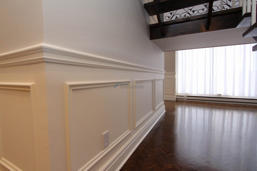 half panel wainscoting in a condo