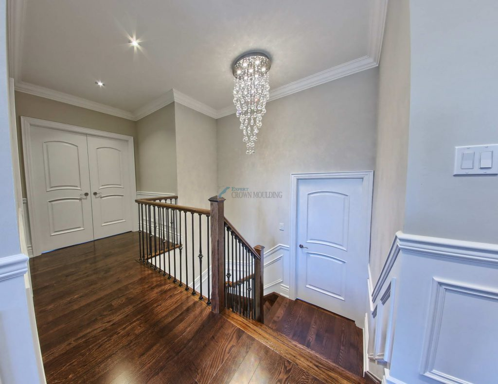 stairway wainscotting, moulding and trim
