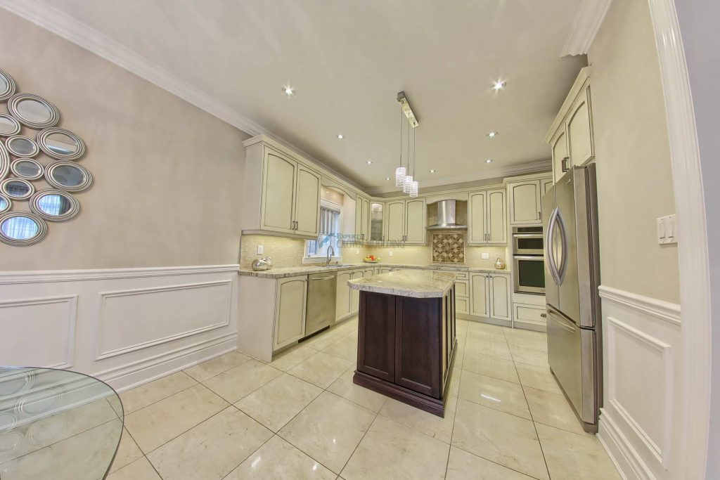 kitchen wainscot carpentry in vaughan
