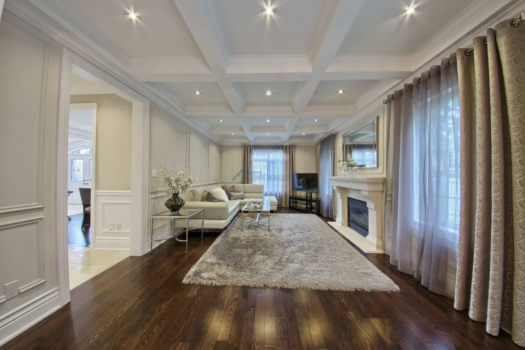 beautiful living room design fireplace crown moulding