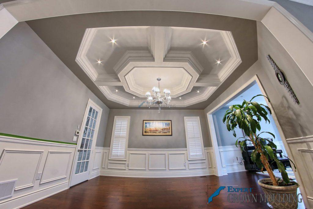 custom shape waffle-ceiling-project-oakville-4