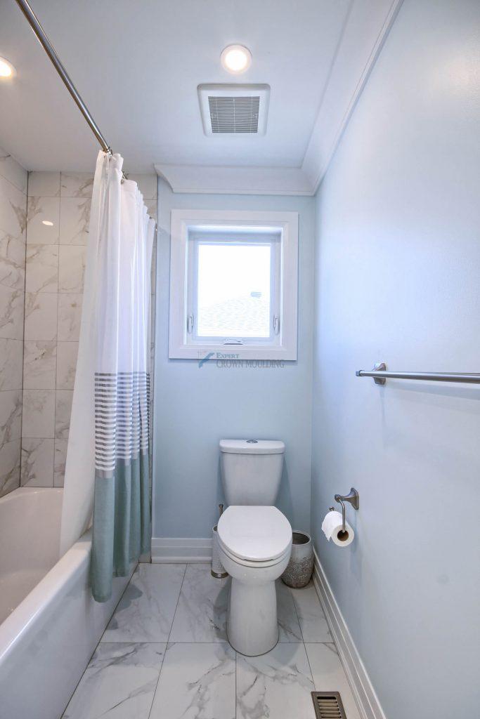 new moulding installation for washroom