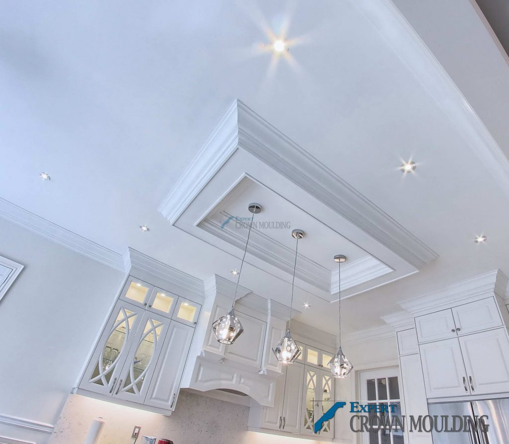 tray ceiling in kitchen for Oakville home