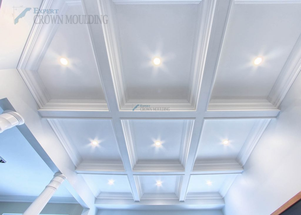 waffle-ceiling-with columns project-newmarket