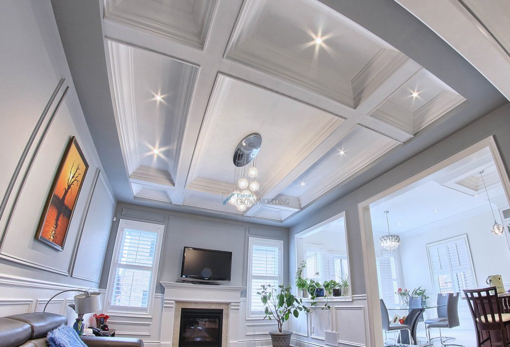 waffle ceiling or coffered ceiling