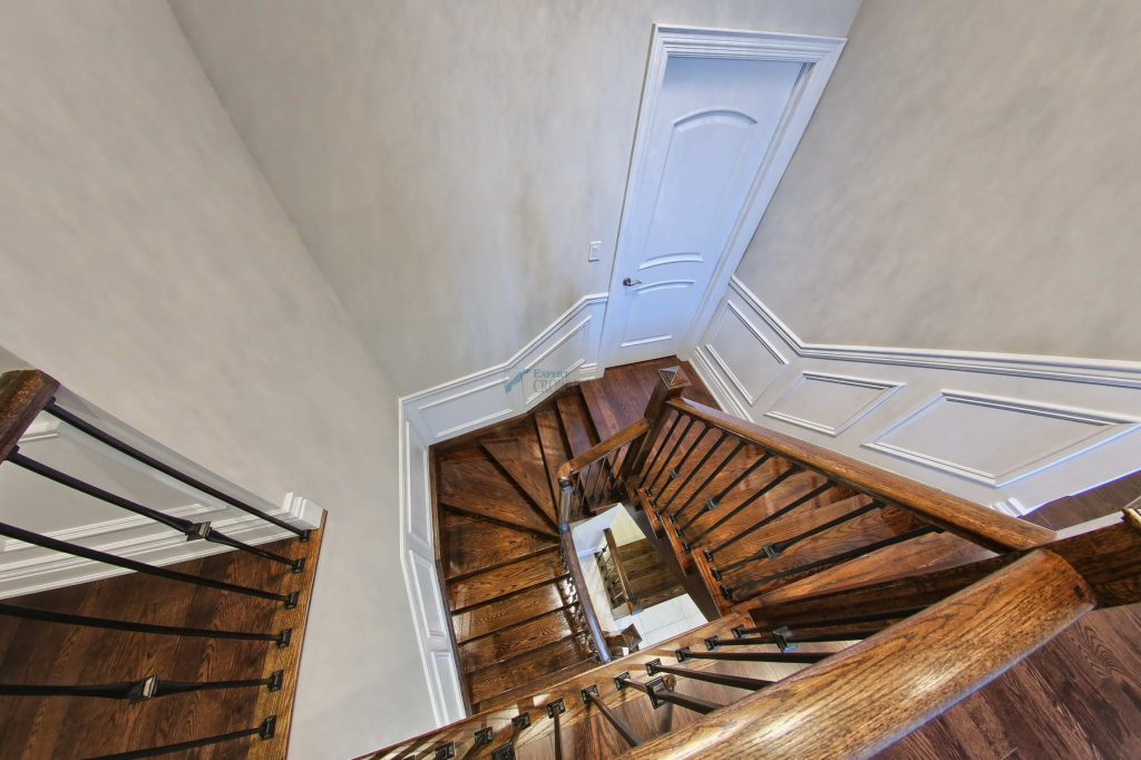 crown-moulding and stairs half panel wainscoting-vaughan