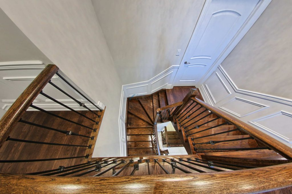 stairway wainscot and doors