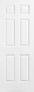 interior door white panel moulded