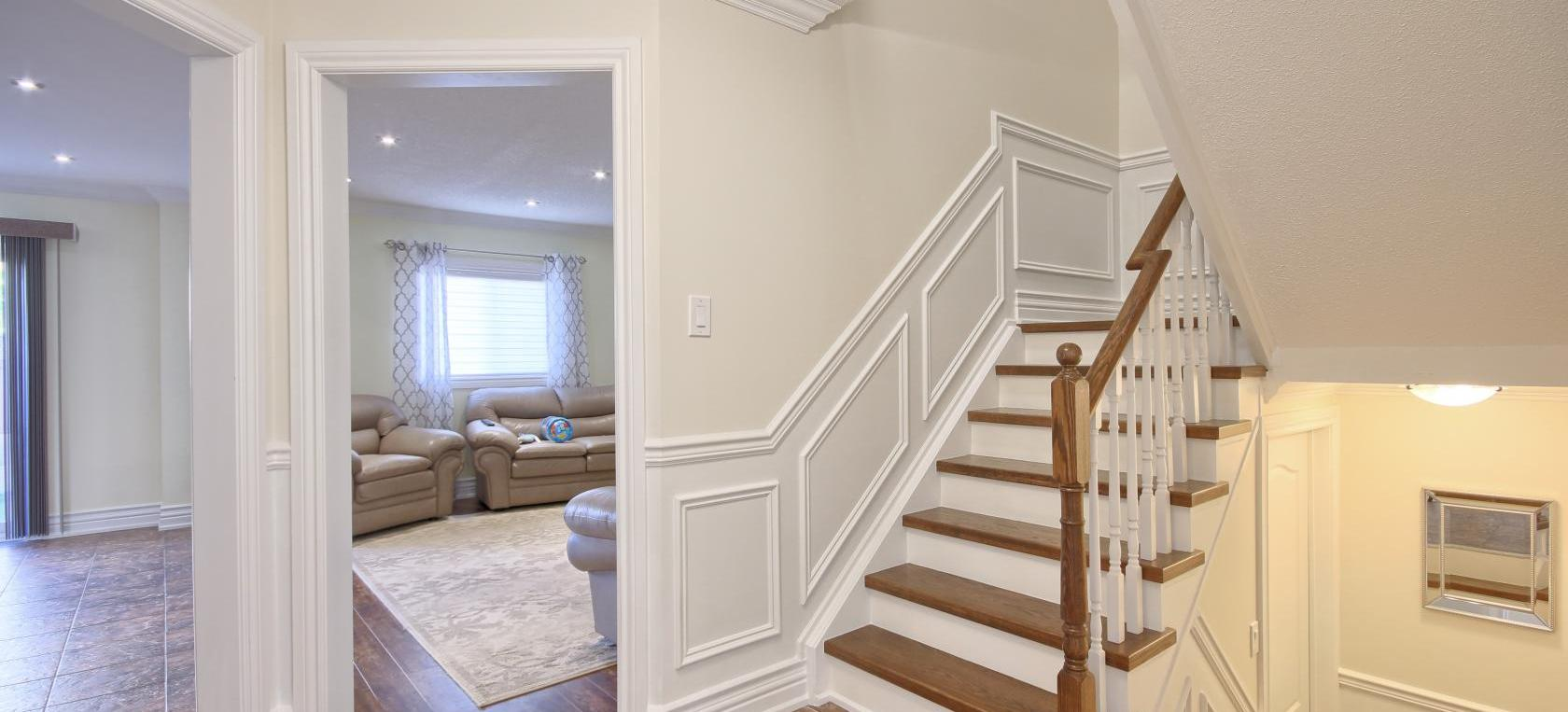 Photo of stair trim