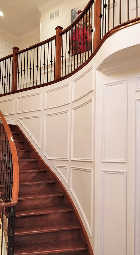 Photo of custom Wainscoting